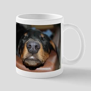 doberman pinscher sleeping Mugs
