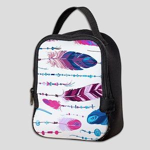 Tribal Feathers Neoprene Lunch Bag