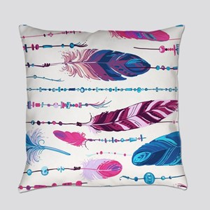 Tribal Feathers Everyday Pillow