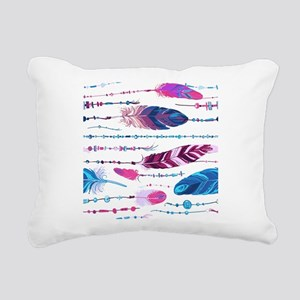 Tribal Feathers Rectangular Canvas Pillow
