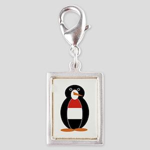 Penguin Flag Yemen Silver Portrait Charm