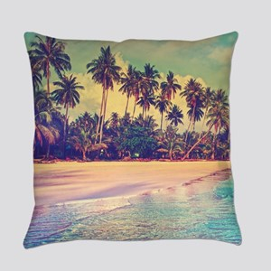 Tropical Island Everyday Pillow