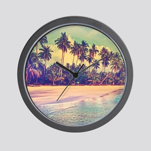 Tropical Island Wall Clock