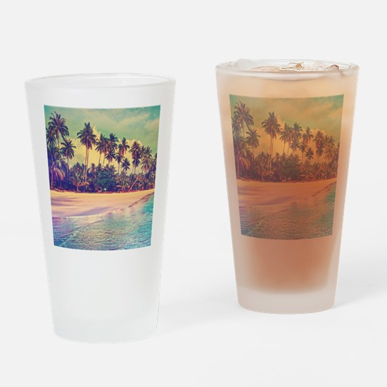 Tropical Island Drinking Glass