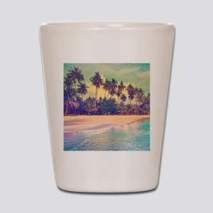 Tropical Island Shot Glass