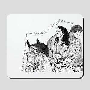 Jamie & Claire Sketch Quotes Design Mousepad