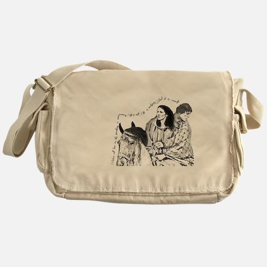Jamie & Claire Sketch Quotes Design Messenger Bag