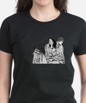 Jamie & Claire Sketch Quotes Design T-Shirt