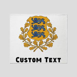 Estonia Coat Of Arms Throw Blanket