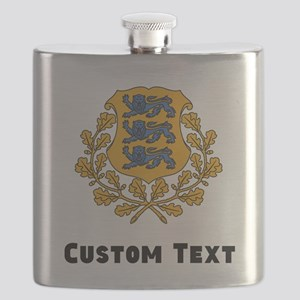 Estonia Coat Of Arms Flask