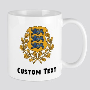Estonia Coat Of Arms Mugs