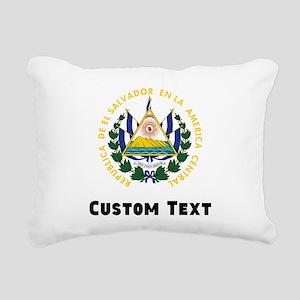 El Salvador Coat Of Arms Rectangular Canvas Pillow