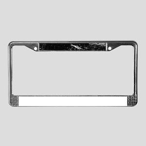 Reflecting Pond (Black & White) License Plate Fram