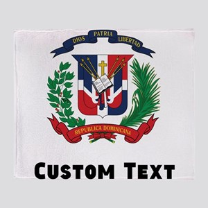 Dominican Republic Coat Of Arms Throw Blanket