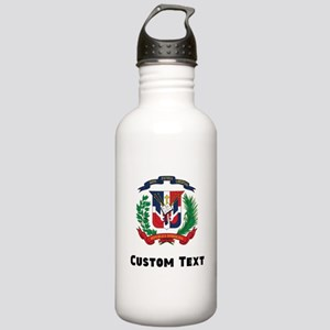 Dominican Republic Coat Of Arms Water Bottle