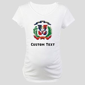 Dominican Republic Coat Of Arms Maternity T-Shirt