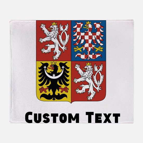 Czech Republic Coat Of Arms Throw Blanket