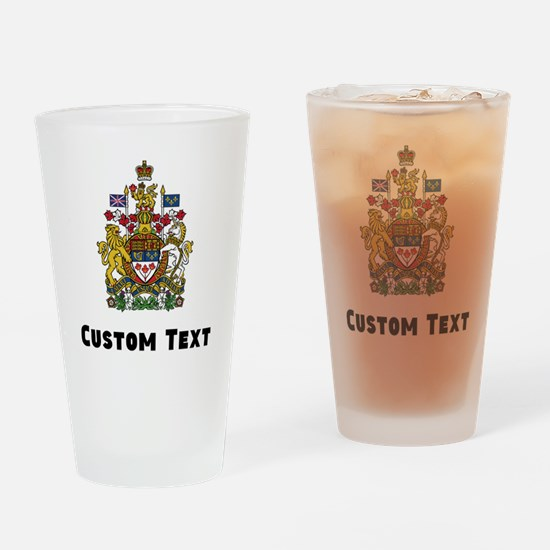 Canada Coat Of Arms Drinking Glass