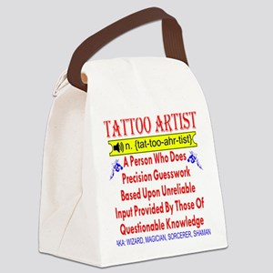 Defining A Tattoo Artist Canvas Lunch Bag