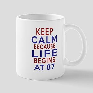 Life Begins At 87 Mug