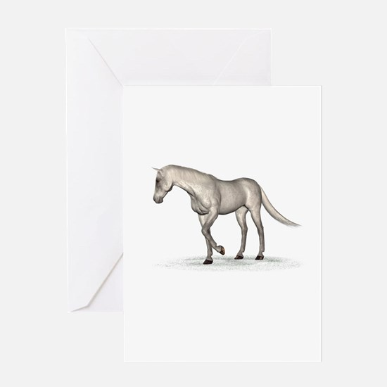 Horse (Fleabitten) Greeting Card