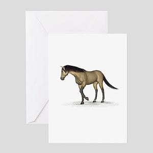 Horse (Dun) Greeting Card