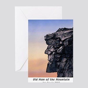 Old Man of the Mountain Dusk Greeting Cards (6) Gr