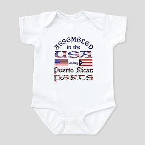 USA / Puerto Rican Parts Infant Bodysuit
