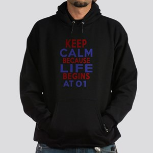 Life Begins At 01 Hoodie (dark)