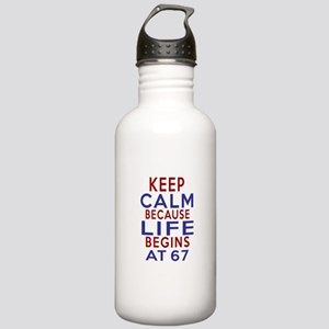 Life Begins At 67 Stainless Water Bottle 1.0L