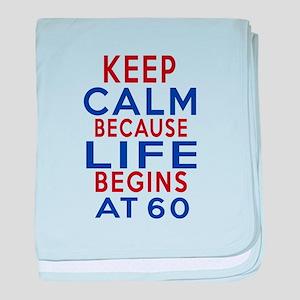 Life Begins At 60 baby blanket