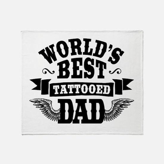 Tattooed Dad Throw Blanket
