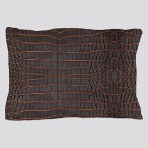 Chestnut Nile Crocodile Skin Pillow Case