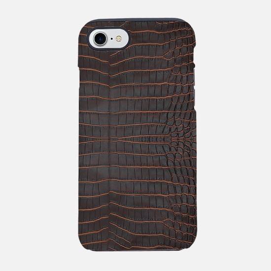 Chestnut Nile Crocodile Skin iPhone 8/7 Tough Case