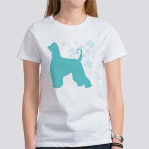 Afghan Hound Snowflake Women's T-Shirt