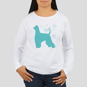 Afghan Hound Snowflake Women's Long Sleeve T-Shirt