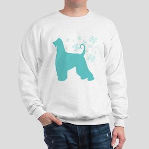 Afghan Hound Snowflake Sweatshirt