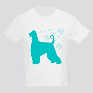 Afghan Hound Snowflake Kids Light T-Shirt