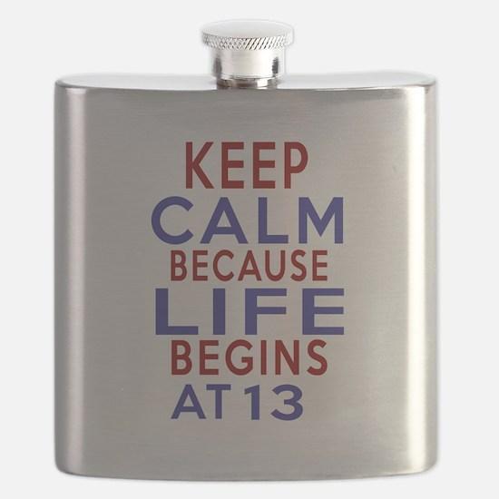 Life Begins At 13 Flask