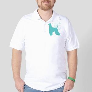 Afghan Hound Snowflake Golf Shirt