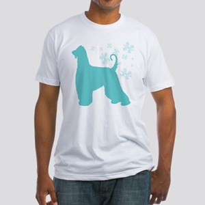 Afghan Hound Snowflake Fitted T-Shirt