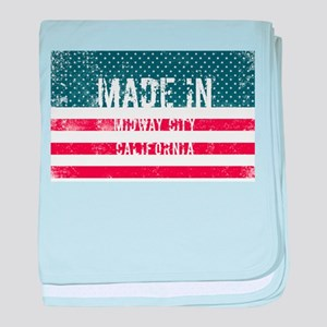 Made in Midway City, California baby blanket