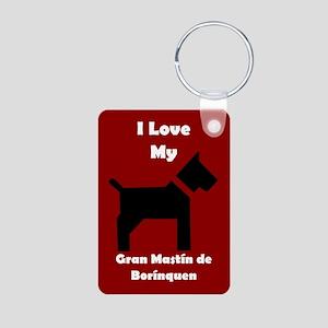 I Love My Gran Mastin de Borinquen Dog Keychain Ke