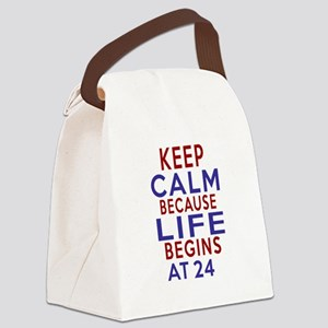 Life Begins At 24 Canvas Lunch Bag