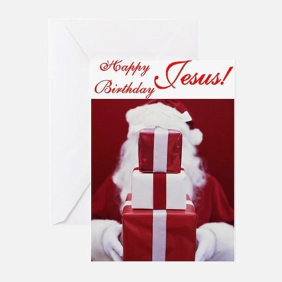 Happy birthday jesus greeting cards cafepress happy birthday jesus greeting cards bookmarktalkfo Gallery