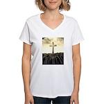 Christian Cross On Mountain T-Shirt