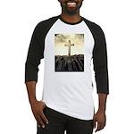 Christian Cross On Mountain Baseball Jersey
