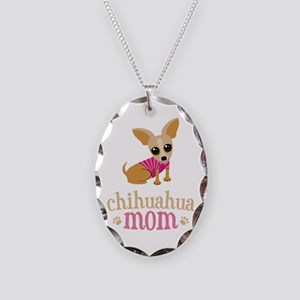 Chihuahua Mom Necklace Oval Charm