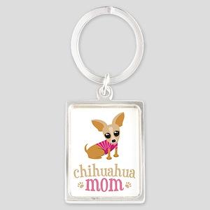 Chihuahua Mom Portrait Keychain