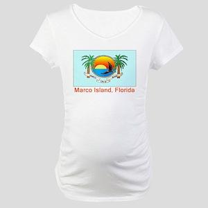 Marco Island FL Flag Maternity T-Shirt